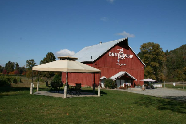bridgeview vineyards barn and outdoor seating in cave junction oregon