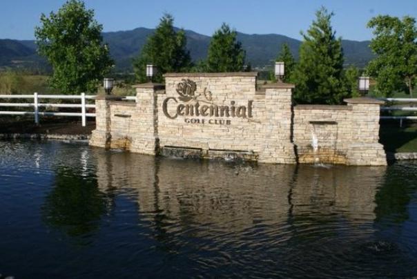 Centennial Fountain in Medford Oregon