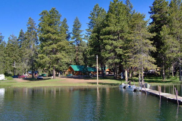 hyatt lake resort in the cascades national forest. cabins and boat doc available
