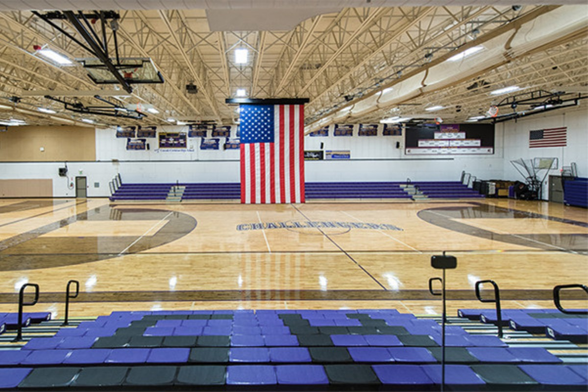 Gym, pavilion, sports, competition, game, Cascade Christian High School, court