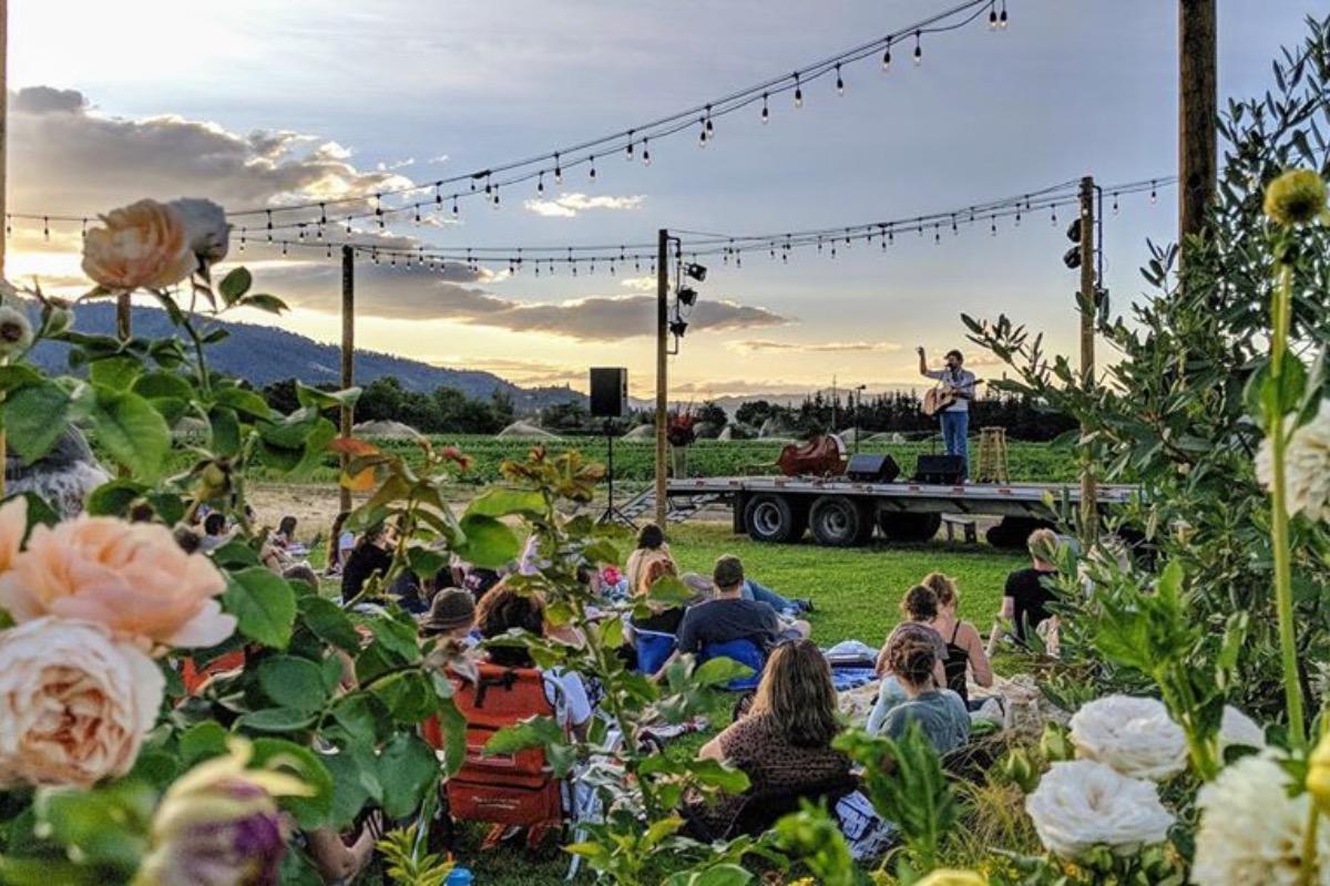 Fry family farm, live music, Medford events