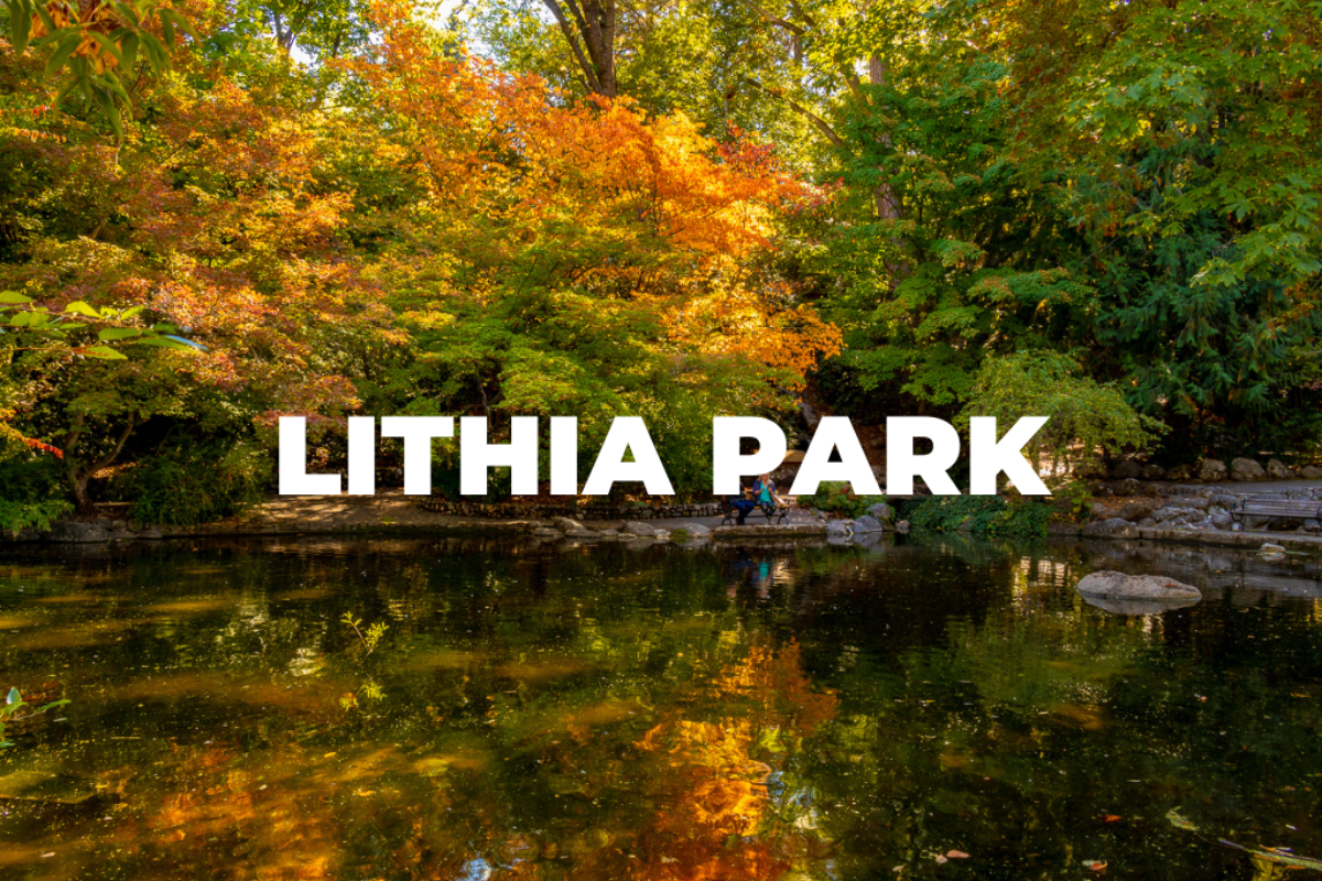 Lithia Park, best Oregon hikes in Medford, hiking and biking trails in Medford