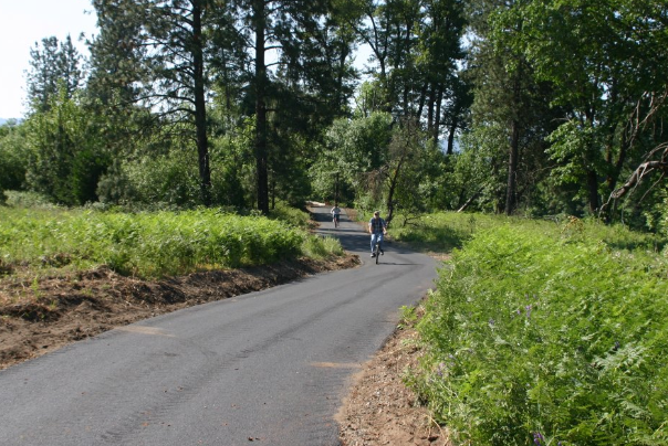 bear creek greenway with bike riders