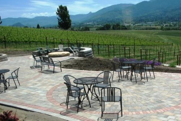 dana cambell patio seating and vineyard