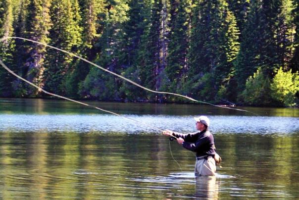 Fisherman enjoying time on the Rogue River
