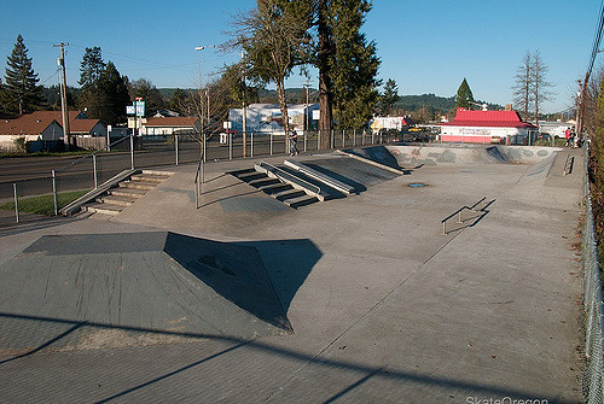 Joel Tanzi Skate Park in Central Point Oregon