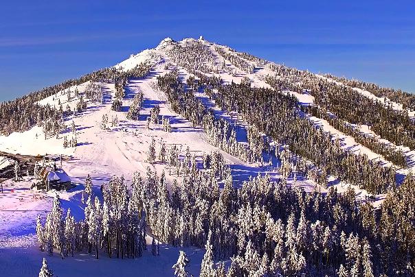Snow-covered Mt. Ashland